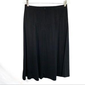 Tahari black A-line skirt size 6